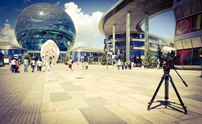 Filming In Astana